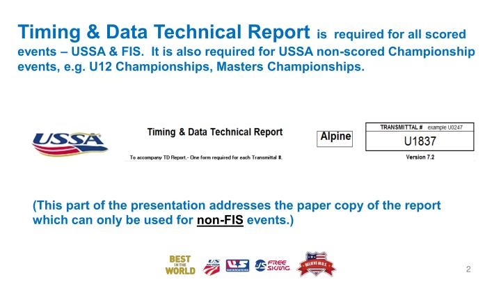 Timing & Data Technical Report