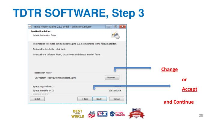 TDTR SOFTWARE, Step 3