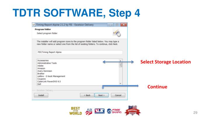 TDTR SOFTWARE, Step 4