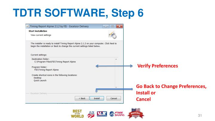 TDTR SOFTWARE, Step 6