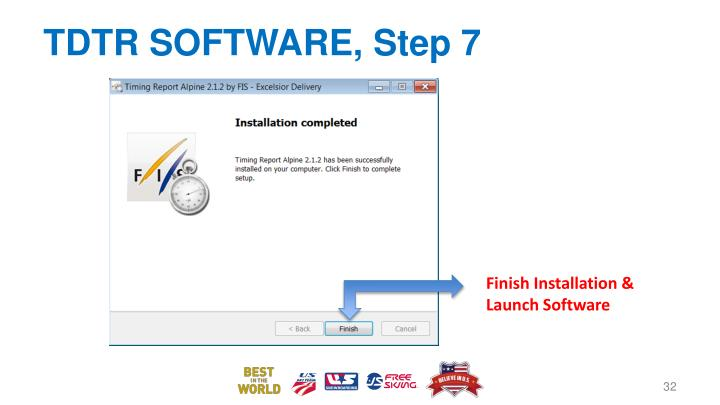 TDTR SOFTWARE, Step 7