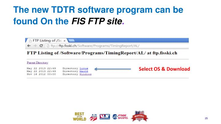 The new TDTR software program can be found On the