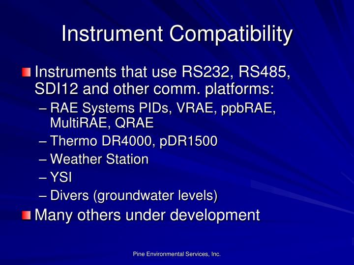 Instrument Compatibility