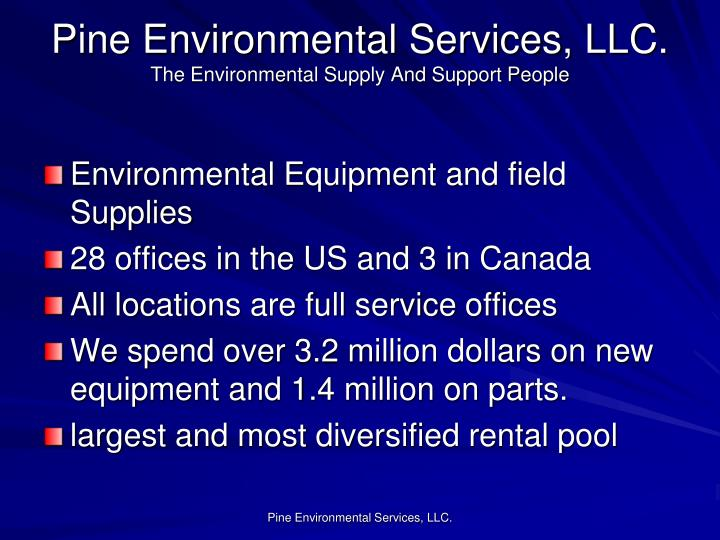 Pine Environmental Services, LLC.