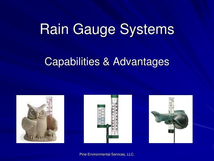 Rain Gauge Systems