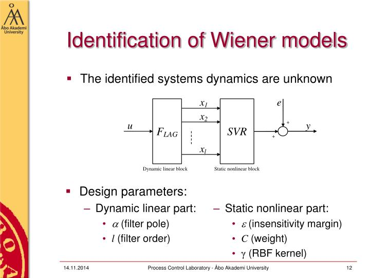 Identification of Wiener models