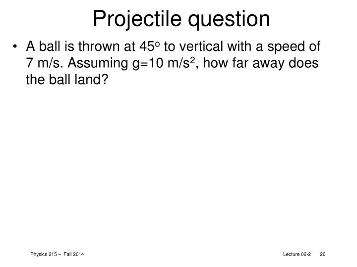Projectile question
