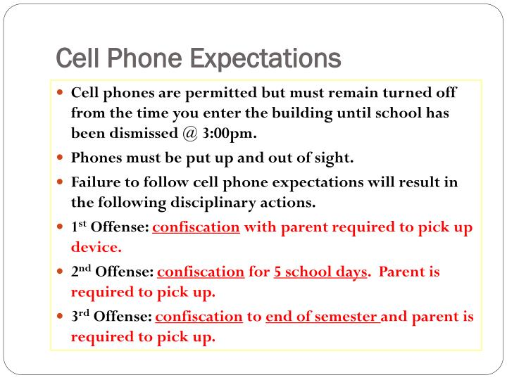 Cell Phone Expectations
