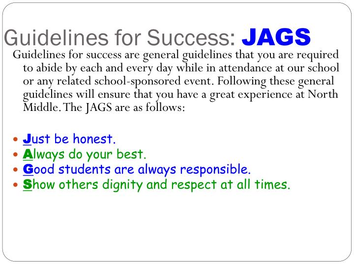 Guidelines for Success:
