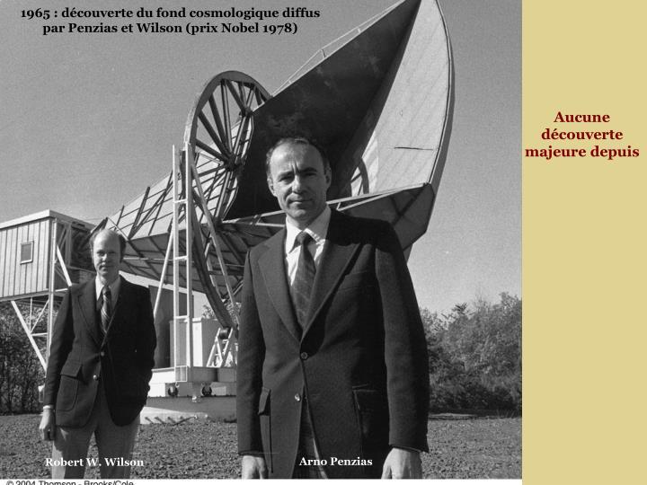 1965 : découverte du fond cosmologique diffus