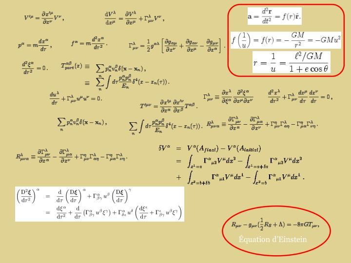 Équation d'Einstein