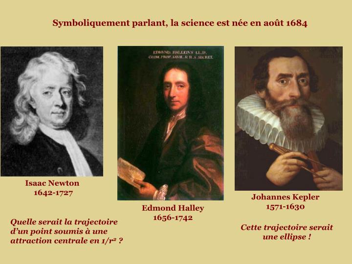 Symboliquement parlant, la science est née en août 1684