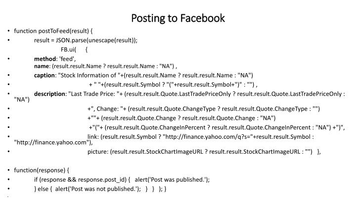 Posting to Facebook