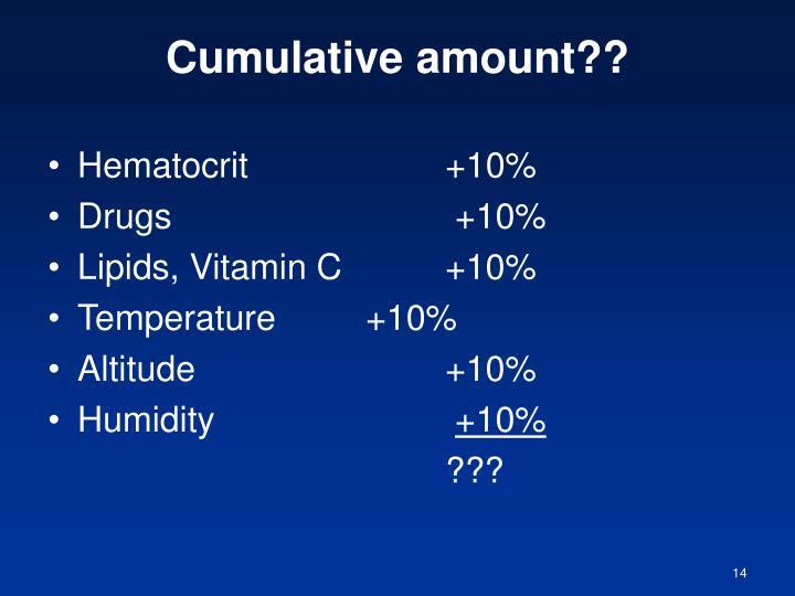 Cumulative amount??