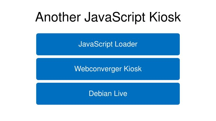 Another JavaScript Kiosk