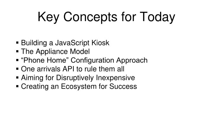 Key Concepts for Today