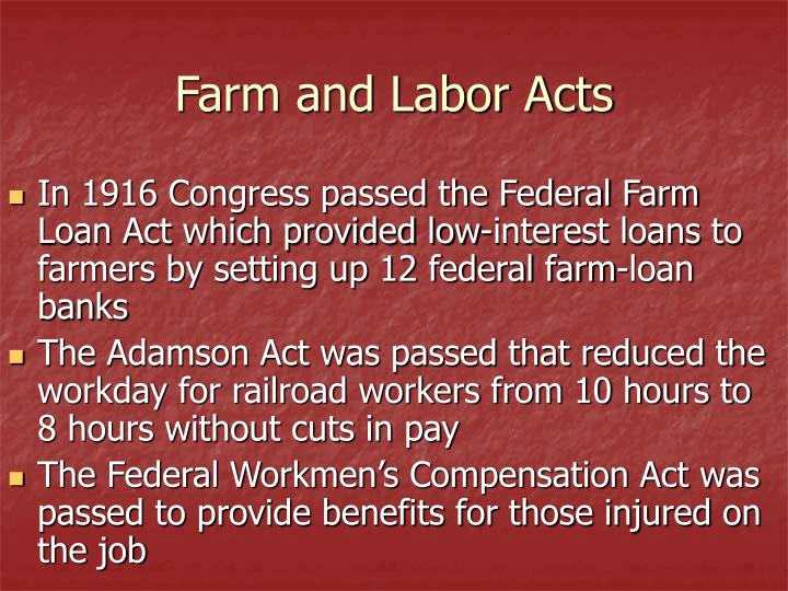 Farm and Labor Acts