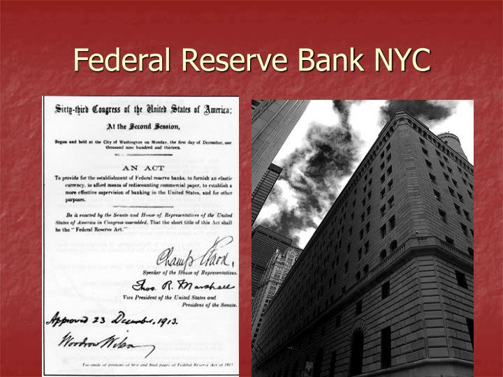 Federal Reserve Bank NYC
