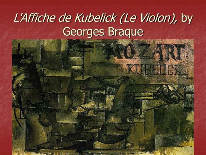 L'Affiche de Kubelick (Le Violon),