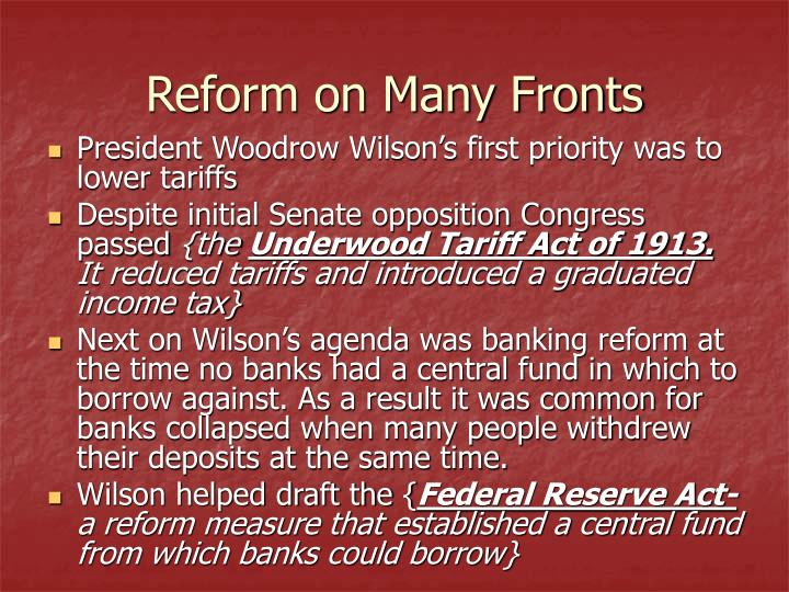 Reform on Many Fronts