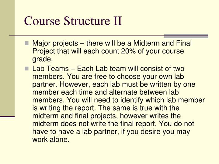 Course Structure II