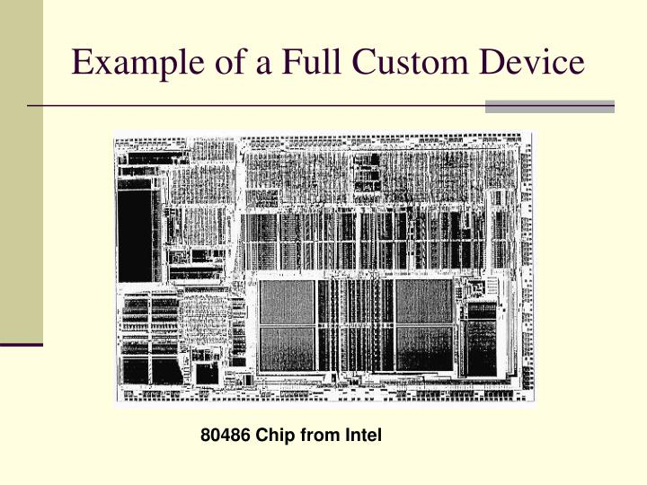 Example of a Full Custom Device