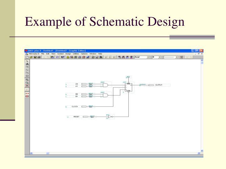 Example of Schematic Design