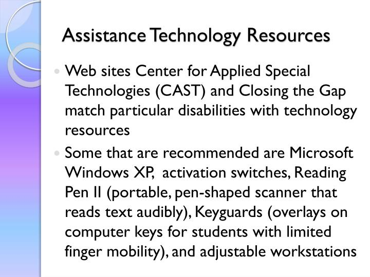 Assistance Technology Resources