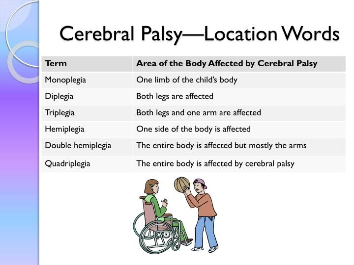 Cerebral Palsy—Location Words