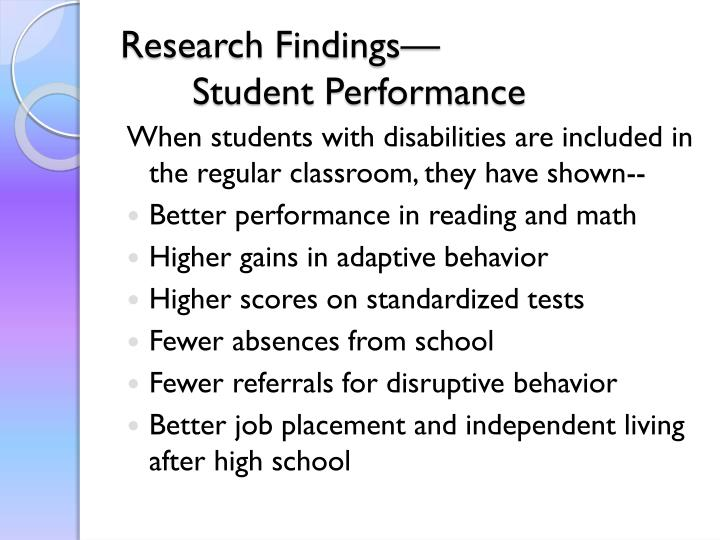Research Findings—