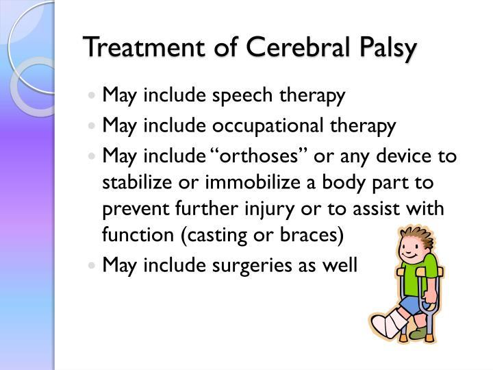 Treatment of Cerebral Palsy