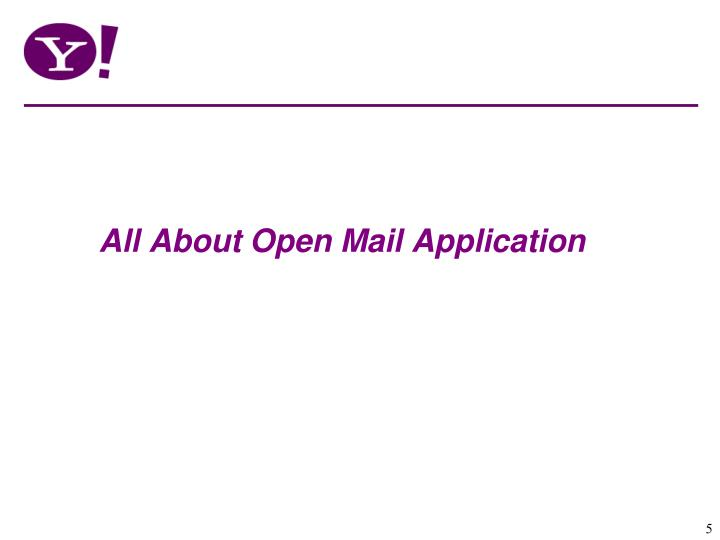 All About Open Mail Application