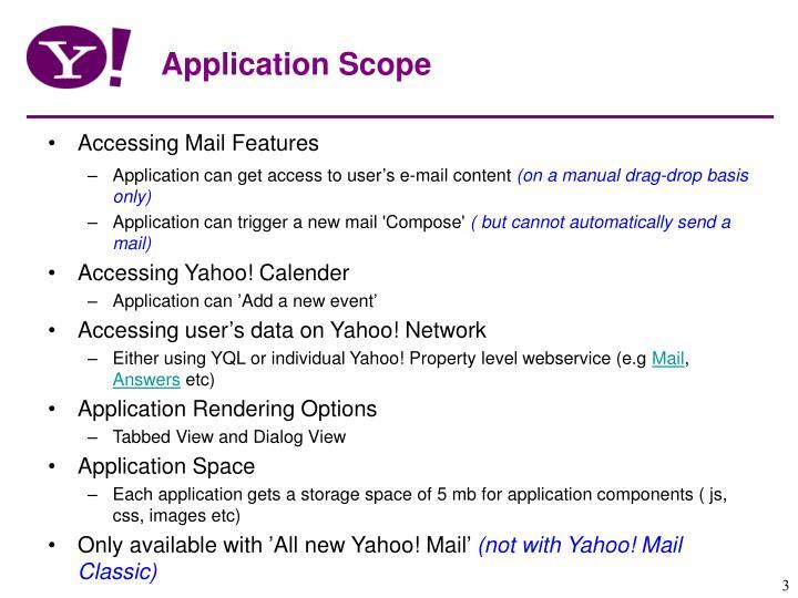Application Scope