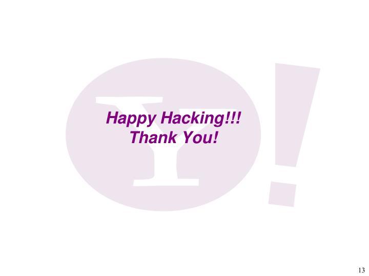 Happy Hacking!!!