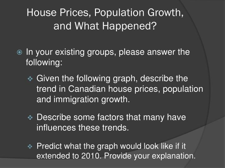 House Prices, Population Growth,