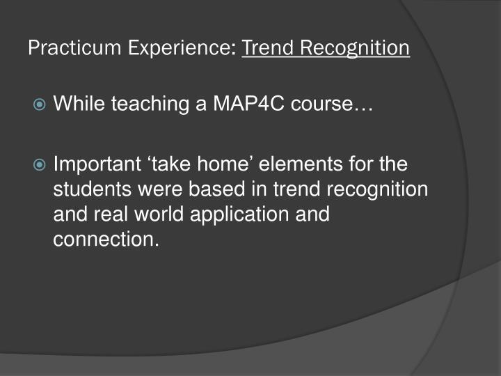 Practicum Experience: