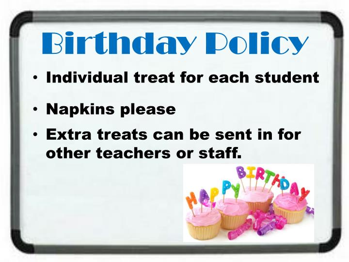 Birthday Policy