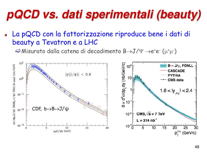 pQCD vs. dati sperimentali (beauty)