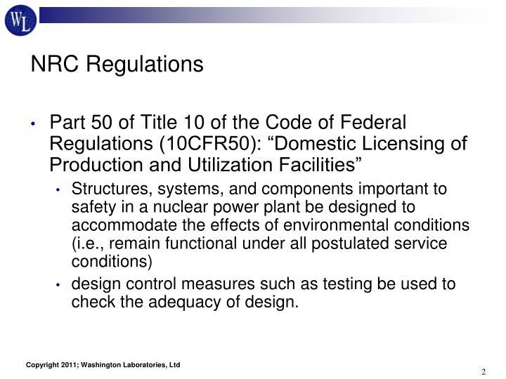 NRC Regulations