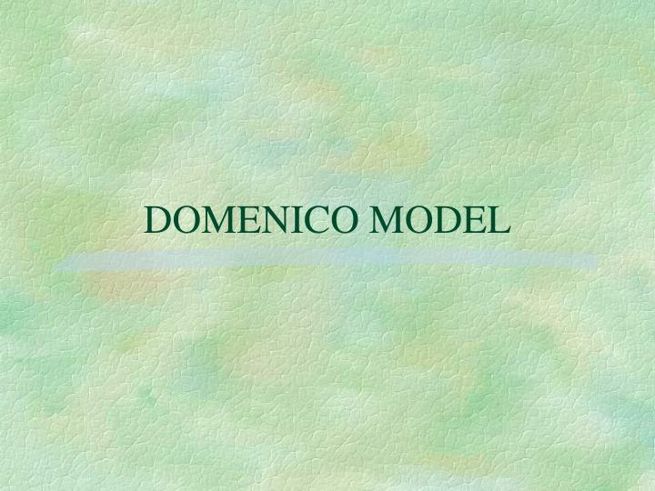 DOMENICO MODEL