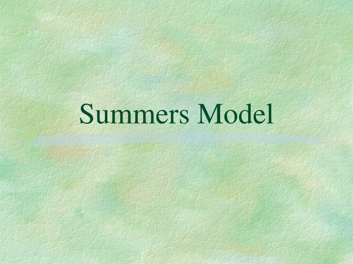 Summers Model