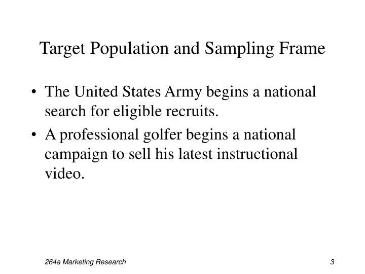 Target Population and Sampling Frame