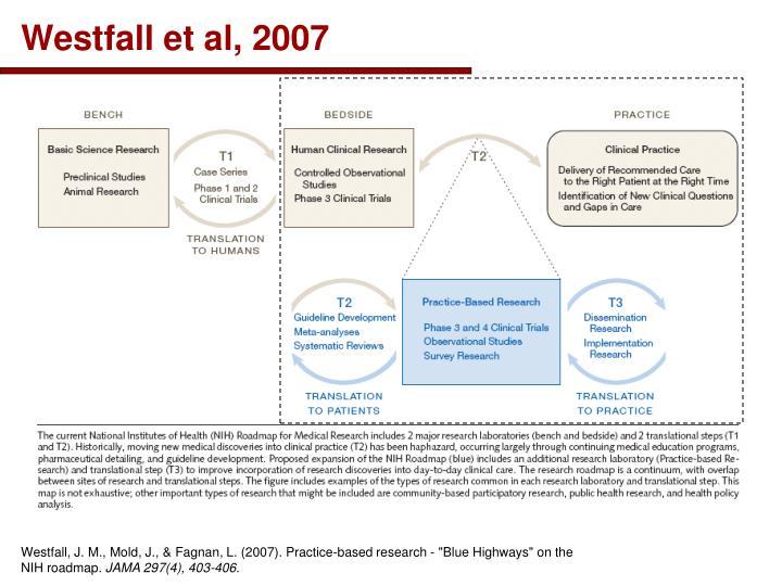 Westfall et al, 2007