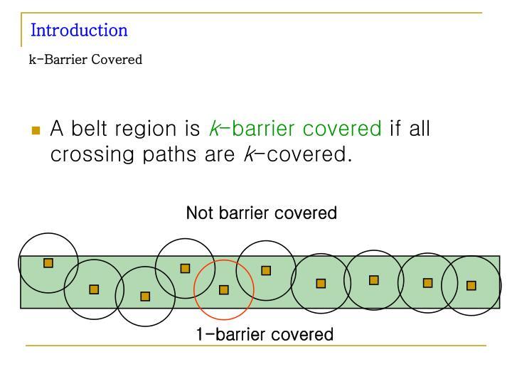 k-Barrier Covered