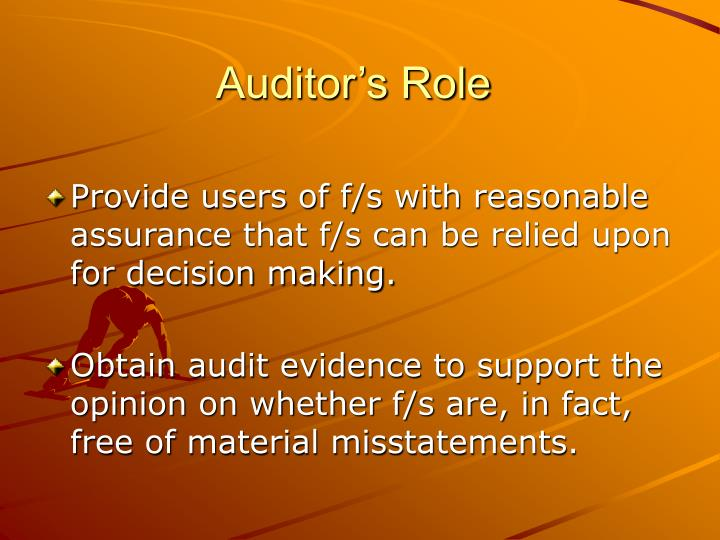 Auditor's Role