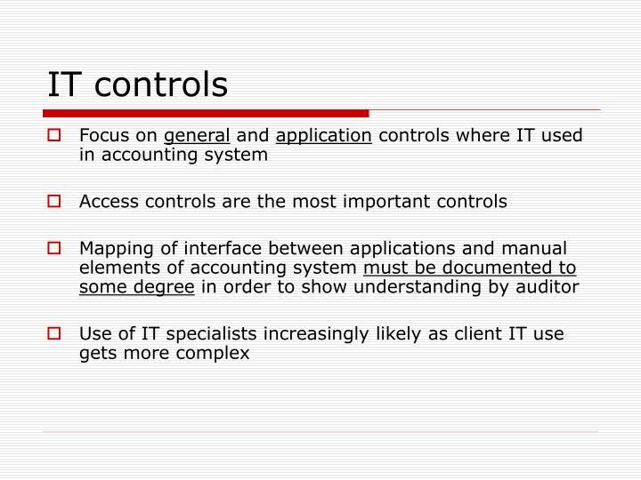 IT controls