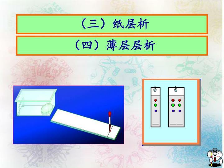 (三)纸层析