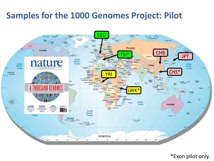 Samples for the 1000 Genomes Project: