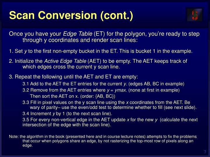 Scan Conversion (cont.)