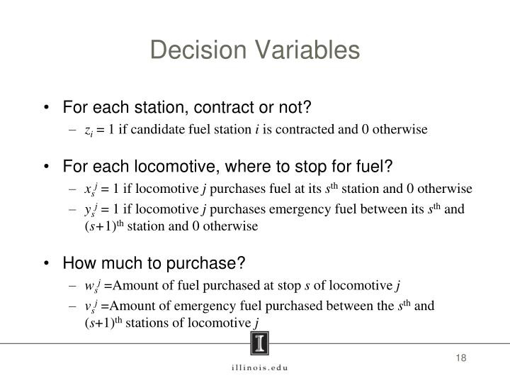 Decision Variables